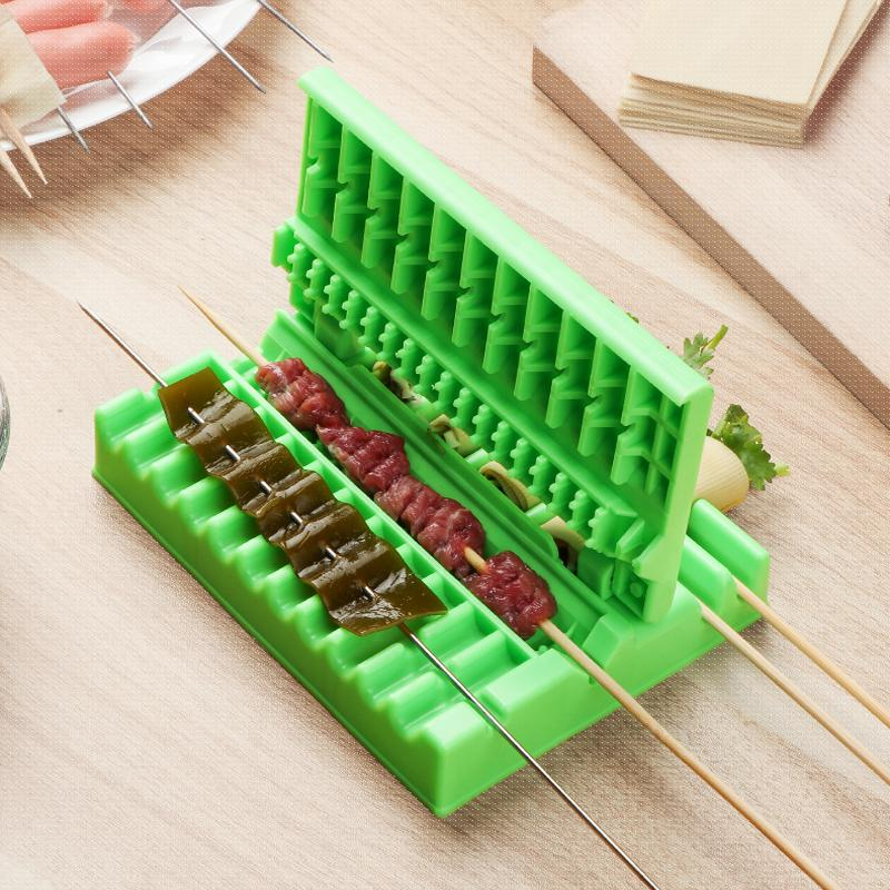 Multifunctional BBQ Meat Skewers Machine String Artifact Wear Food Meat String Device Skewer for Beef Pork Maker BBQ Tools Acces