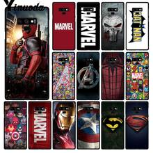 Yinuoda Deadpool Iron Man Marvel Avengers Logo Ốp Lưng Điện thoại Samsung Galaxy A50 S10 S9 Plus Note9 8 Note7 5 4 3(China)