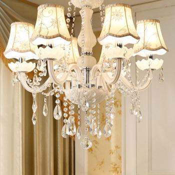 Led Chandeliers for Dining room Bedroom Kitchen White Color K9 Crystal Chandelier light For Home Decoration lustres para quarto