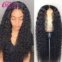 Haever Kinky Curly Human Hair Lace Frontal Closure Wig 13X6 For Black Women PrePlucked 150% Peruvian Remy Virgin Hair Wig