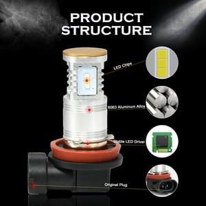 Image 5 - CNSUNNYLIGHT 2 Chiếc Xe H4 LED H7 H11 H8 H16 Đèn Sương Mù 9005 HB3 9006 Trắng Ban Ngày Lái Xe Ánh Sáng biến Đậu Xe Bóng Đèn LED 12V