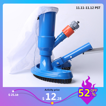 Swimming Pool Vacuum Cleaner Cleaning disinfect Tool Suction Head Pond Fountain Spa Pool Vacuum Cleaner Brush with handle EU/US