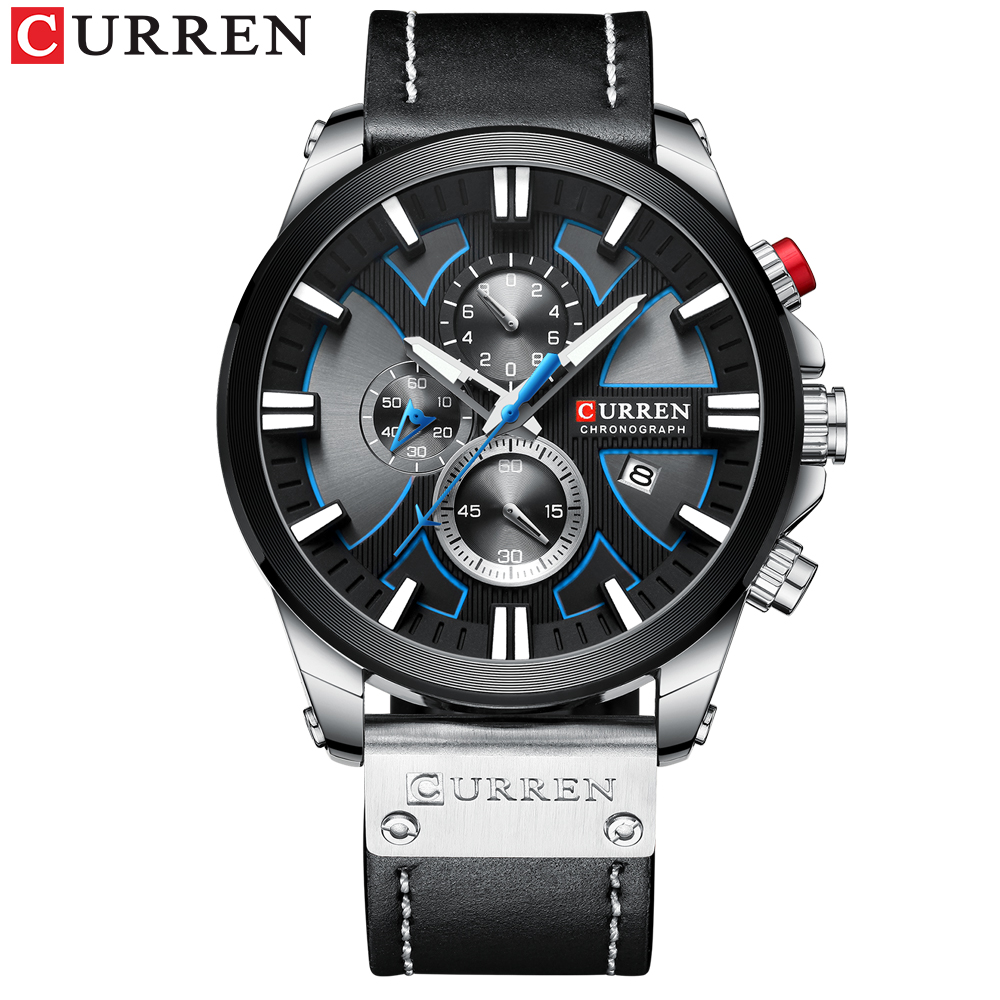 New CURREN Men Watches Fashion Quartz Wrist Watches Men's Military Waterproof Sports Watch Male Date Clock Relogio Masculino 2