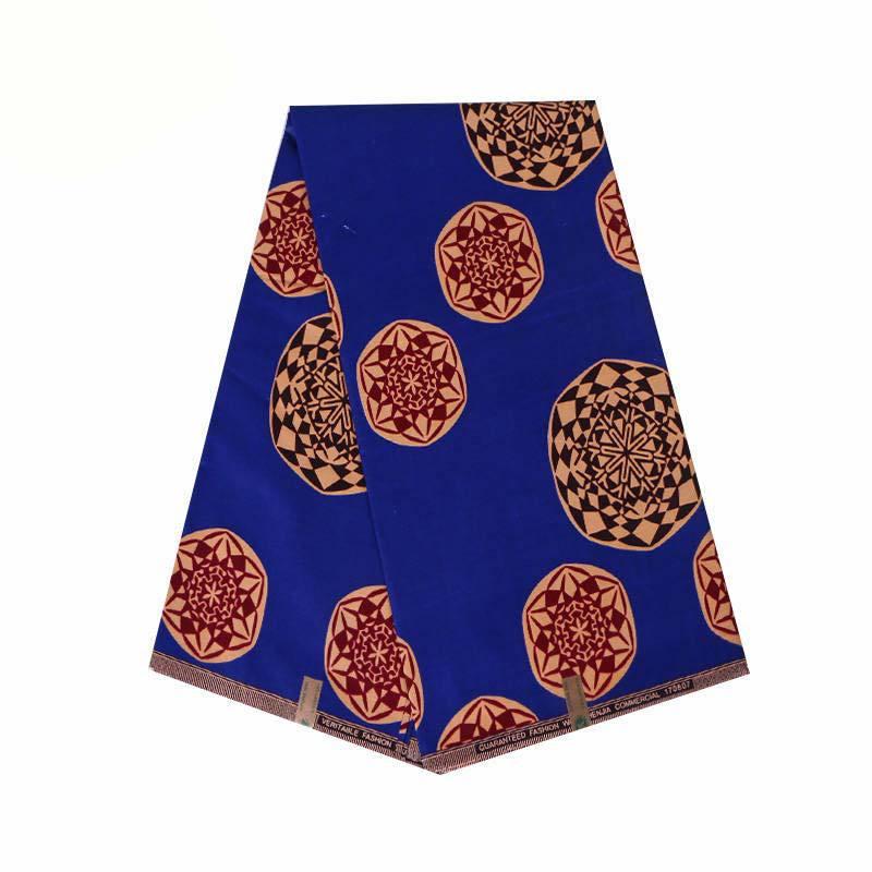 Red Ankara African Wax Print Fabric High Quality Cotton Dutch Wax Abrics 6 Yards For Wedding Dress