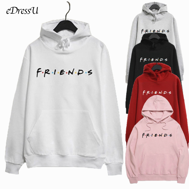 Women Hoodies Best Friends Sweatshirt Oversize Pullover Kawaii Fleece Harajuku Loose Casual White Hoodie Korean Shirt FJ-32165