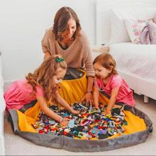 Practical Toy Clean-up Storage Bag oversized Kids Play Blocks Mat Container Multifunctional
