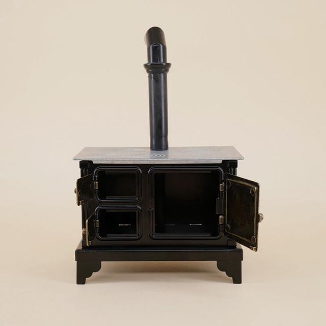 Cadeau accessoires à lancienne cuisine cuisinière Mini fer ornement cheminée maison de poupée enfants meubles jouet décor à la maison