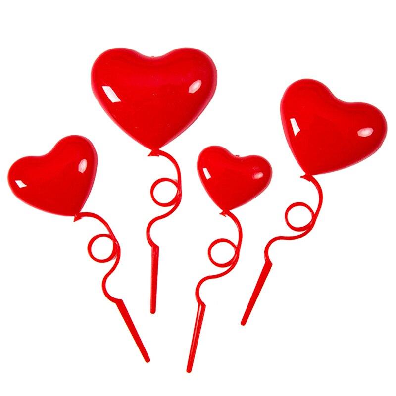 4 pçs romântico bolo toppers linda menina volta sombra bolo toppers balões bolo toppers em forma de coração bolo picaretas para festa
