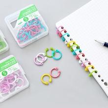 8/16/30Pcs Book Binding Rings 15/25/30mm Material Ring Binder Album Folder Hoops for Notepad Notebook Keys Combs Office Supplies