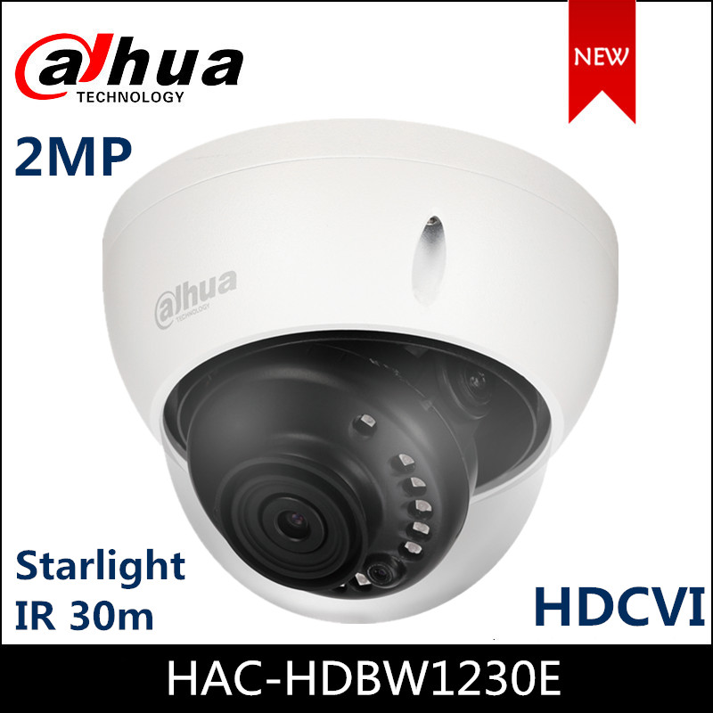 Starlight HDCVI Dahua Camera 2MP Camera HAC-HDBW1230E Smart IR 30m Waterproof for Indoor Outdoor Dome camera CCTV Camera