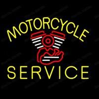 Motorcycle Motor Service Neon Sign Custom Handmade Real Glass Tube Store Shop Station Repair Washing Display Neon Signs 17X14