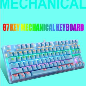 Punk Mechanical Keyboard 87 Keys Green Axis Gaming Competitive Office Notebook Professional Keyboard Game Keyboard PCAccessories