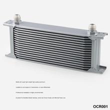 16 ряд AN-10AN Универсальный Алюминий радиатор трансмиссионного масла двигателя серебро