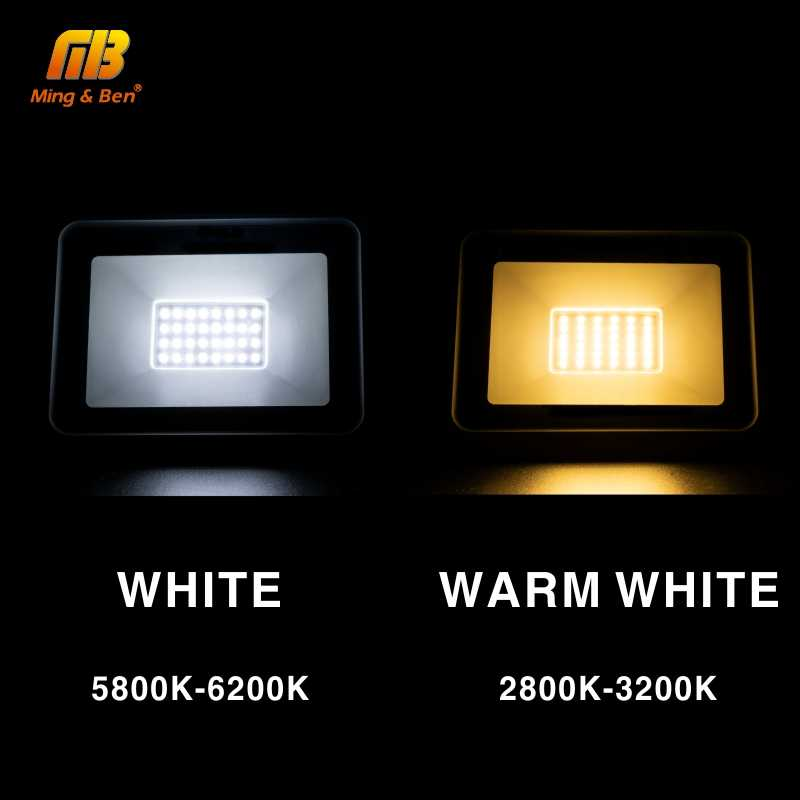 Lampu Sorot LED 220V PIR Motion Sensor LED Lampu Sorot 10W 20W 30W 50W 100W Outdoor dinding Reflektor Lampu Tahan Air Lampu Taman