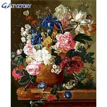 Gatyztory diy Раскраска по номерам Ретро Цветы для взрослых