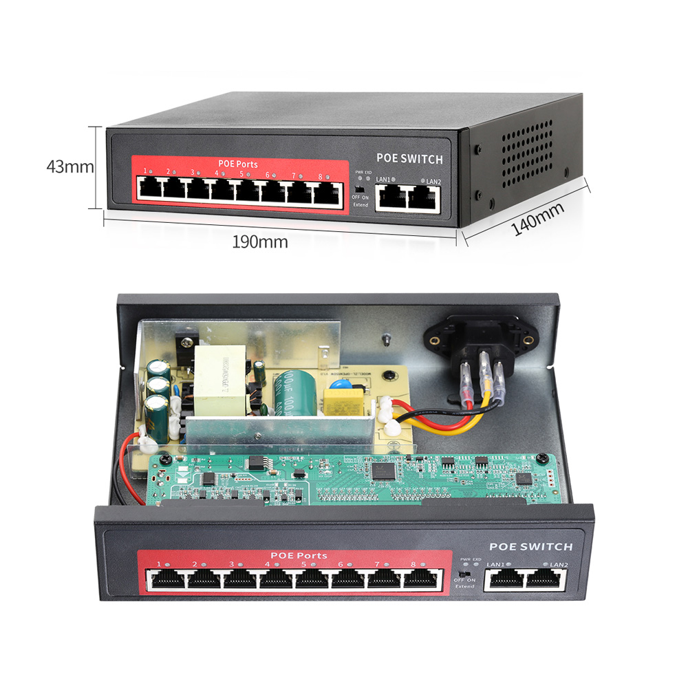 Ultimate SaleMISECU Poe-Switch Network Ap/cctv-Camera-System Ip-Camera/wireless IEEE 48V with 4/8