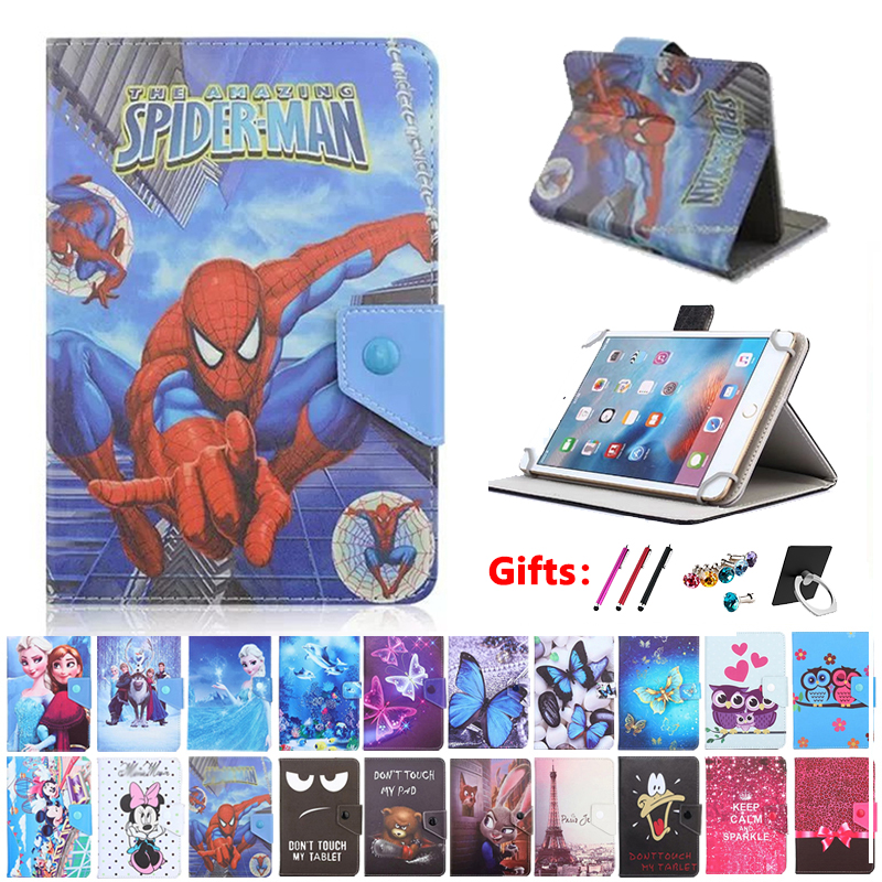 Universal Cover Case For PocketBook 740 (InkPad 3) 7.8 Inch E-Book 7.8 Inch Tablet Cartoon Printed PU Leather Case +gift