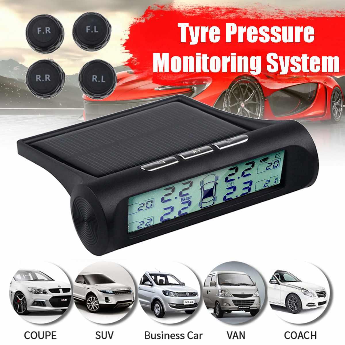 4 sensors car tire pressure alarm TPMS Digital display auto tyre pressure tester leak warning tire presssure monitoring system