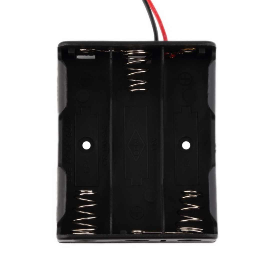 New1PC بطارية حامل البطارية الحال بالنسبة 1/2/3/4 قطعة AA 1.5 فولت حافظة بطاريات الجافة صندوق كابل طويل مشبك بطارية موصل مشبك