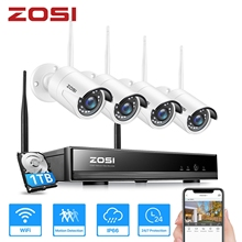 ZOSI 8CH Drahtlose CCTV System H.265 1080P NVR 2MP IR-CUT Outdoor Video Recorder Kamera IP Security System Video Überwachung kit