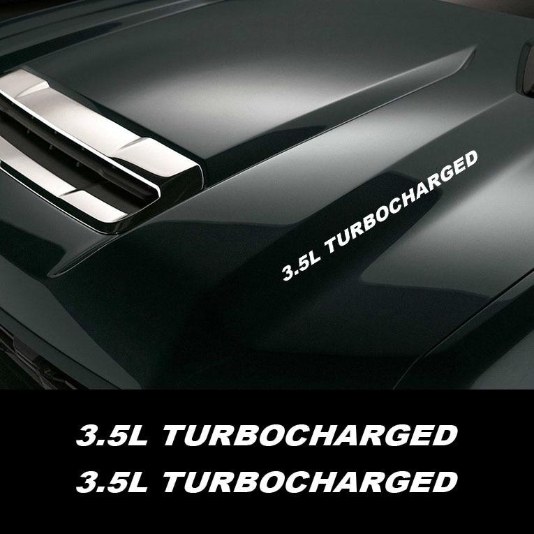2 шт. 3.5L с турбонаддувом двигателя капот наклейки эмблемы наклейки для Ford Mustang Ranger TOYOTA Tacoma HONDA Ridgeline MITSUBISHI L200