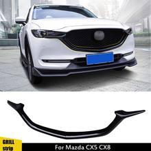 Аксессуары для cx5, сетка для переднего бампера автомобиля, решетка радиатора, решетка, полоса, Обложка для Mazda CX-5 CX5 CX8 2017 2018 2019