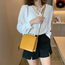 Fashion Woman Shoulder Bag Commuter Simple Ladies PU Leather Candy Color Female High Quality Work Waterproof