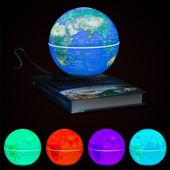 6inch Book Base Magnetic Suspension Globe Smart Adsorption Sphere Illumination 360 rotating creative gifts night light novelty adsorption