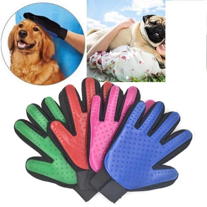 Pet Glove Cat Gloves Silicone Cat Grooming Glove dog Brush Cats hair Comb Clean Deshedding Pets Products for Cat Dog RemovalHair