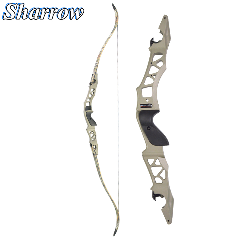 64'' Hunting Recurve Bow 30/35/40/45/50/55/60Lbs Archery With Arrow Rest Aluminum Alloy ILF Riser Takedown Bow Outdoor Accessory