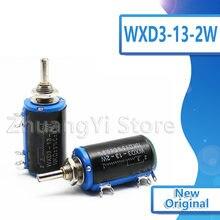1pcs WXD3-13-2W Wirewound Potenciômetro 100 220 470 K 2K2 1 3K3 4K7 47 33 22 10K K K K 100k Ohm 220R 470R 2.2K 3.3K 4.7K WXD3-13 2W