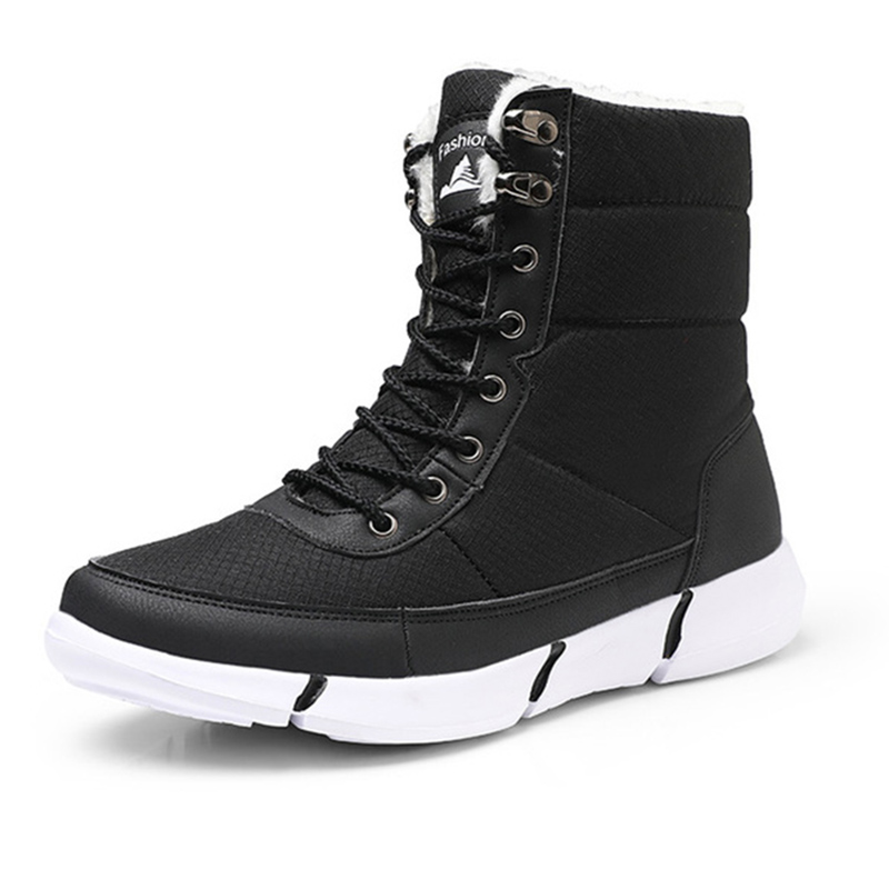 Image 2 - Women Boots 2019 Winter Shoes Woman Snow Boots With Plush Inside Shoes winter Waterproof Plus Winter Boots Rubber Female Booties-in Ankle Boots from Shoes