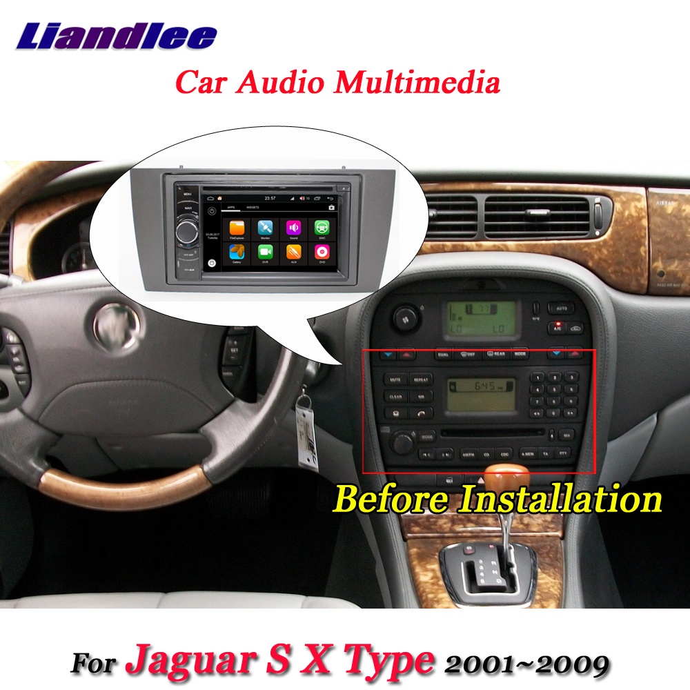 Liandlee Car Android 8.0 System For Jaguar S X Type 2001~2009 Radio Video DVD Frame GPS Navi MAP Navigation HD Screen Multimedia