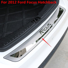 Sill Rear-Bumper-Protector Ford Focus Car-Styling Hatchback Stainless-Steel