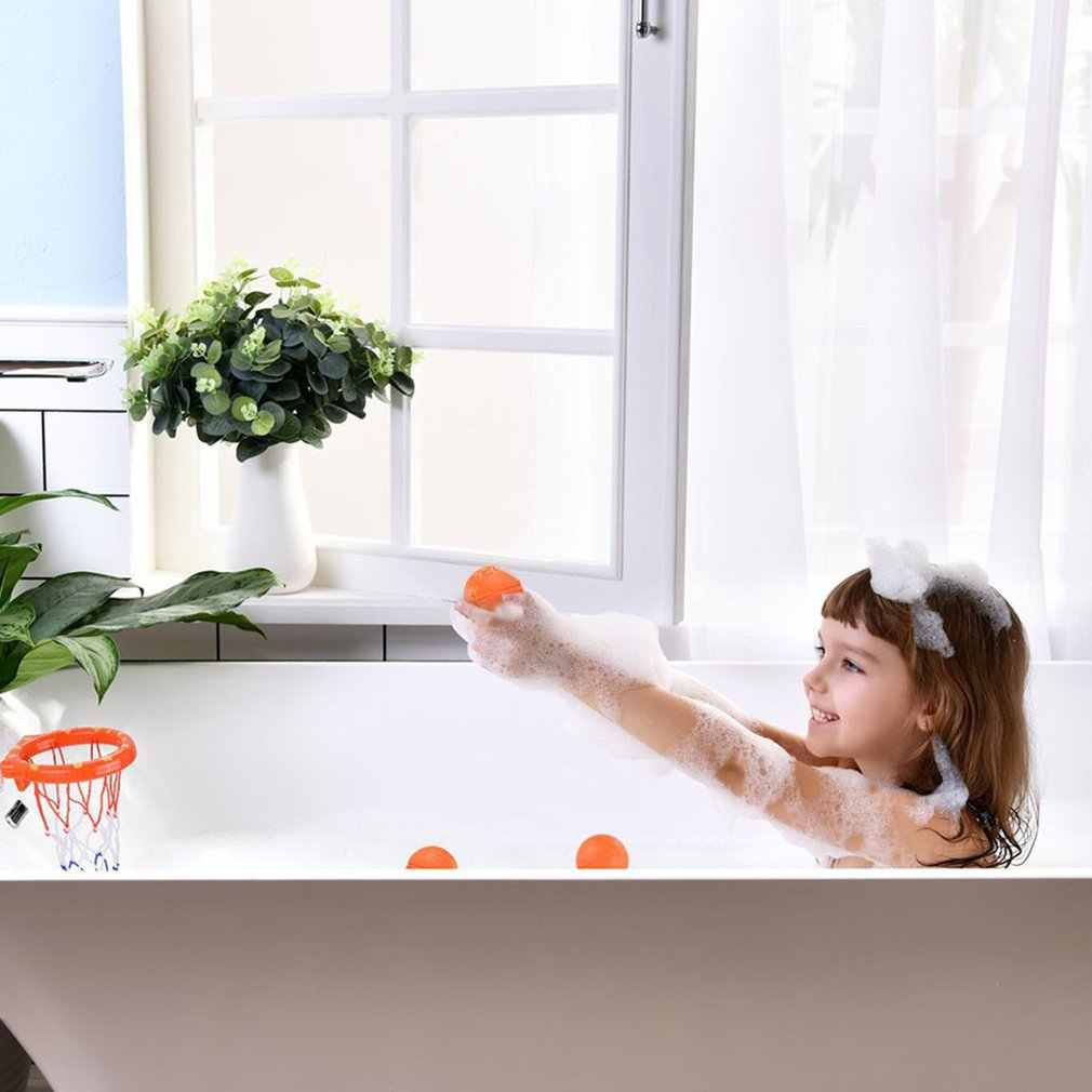 Baby Bath Toys Basketball Hoop and 3 Balls Playset for Toddlers With Sucker Boy Girl Bathtub Swimming Pool Shooting Ball Game