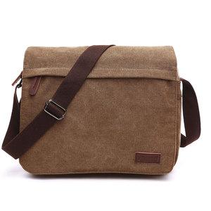 Image 1 - Scione модная однотонная холщовая сумка мессенджер с пряжкой, Повседневная Портативная сумка на плечо, корейский тренд, простая упаковка для мужчин