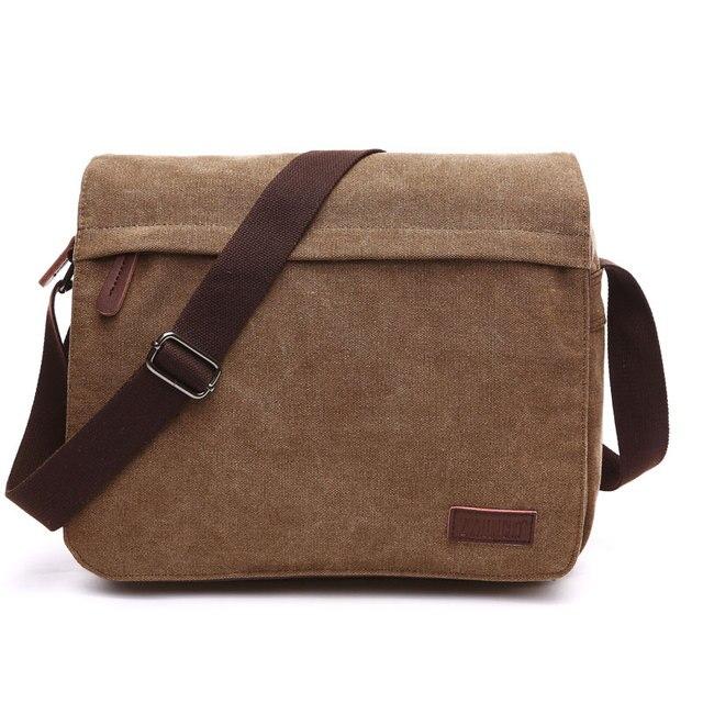Scione модная однотонная холщовая сумка мессенджер с пряжкой, Повседневная Портативная сумка на плечо, корейский тренд, простая упаковка для мужчин