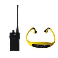 Беспроводное обучение устройство приемник костной проводимости с 2 WalkieTalkie передатчик 15 водонепроницаемые приемники наушников 1 микрофон