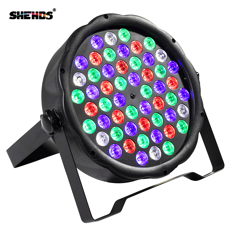 SHEHDS 54x3W RGBW LED Flat Colorful Par Light DMX512 Control  For DJLive Disco Family Party Bar Stage Effect Light Fast Shipping