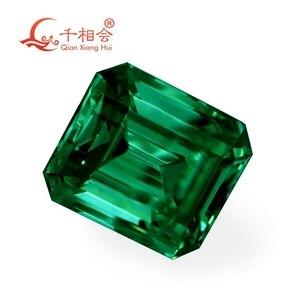 Image 3 - اللون الأخضر مستطيلة الشكل em إرالد قطع شكل سيك المواد مويسانيتي حجر فضفاض