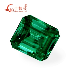 Image 3 - green color retangle shape em erald cut shape Sic material  Moissanite loose stone