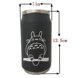 Image 5 - 330ml cartoon vacuum thermos mug my neighbor totoro cola stainless steel anime Action figures cup with Japanese hayao miyazaki
