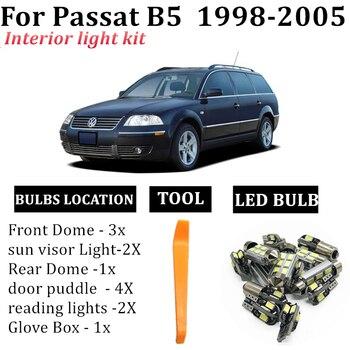 13x canbus coche LED Interior mapa cúpula Kit de luces apto para VW Passat B5 1998 2005 espejo de maletero lámpara coche accesorios|Lámpara de señalización|   -