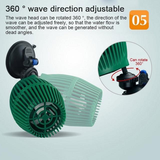 Aquarium Wave Pump Silent Mini Air Valve Wave Maker Fish Tank Surf Submersible  4