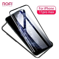 ROFI Glass Full Screen for iPhone Anti-peep 3D Curved Screen Protector for iPhone 11 Pro Max 6.5 inch Blue Light Tempered Glass