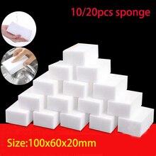 10/20 pçs esponja mágica borracha melamina esponja limpador cozinha limpeza esponja para lavagem de prato ferramentas de limpeza do banheiro 100*60*20mm
