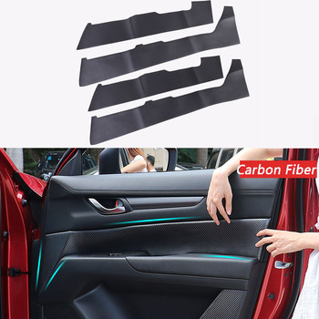 Leather Door Panel Armrest Foreskin Cover For Mazda CX5 CX-5 2018 2019 Car Interior Door Panels Guards Car Accessories