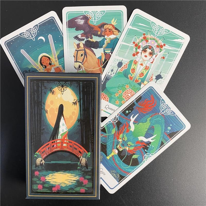Таро Божьего палубы и руководства, вдохновленные фольклором деоптрий и сказочными сказками со всего мира, карточная игра Таро