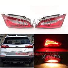 MIZIAUTO Rear tail light Inner side For Chevrolet Equinox 2018 2019 Tail Stop Lamp Bumper Light Warning Brake