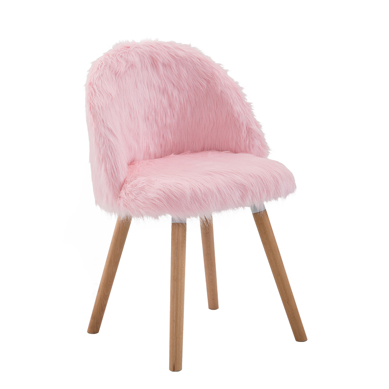 Nordic Creative Makeup Chair Girl Heart Desk  Bedroom Princess Pink Cute Stool Beauty Toilet  Fabric Leisure Chair